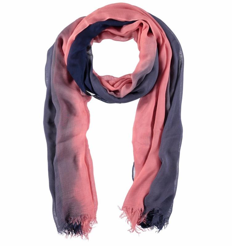 A-Zone sjaal lavendelblauw roze viscose 90 x 180cm