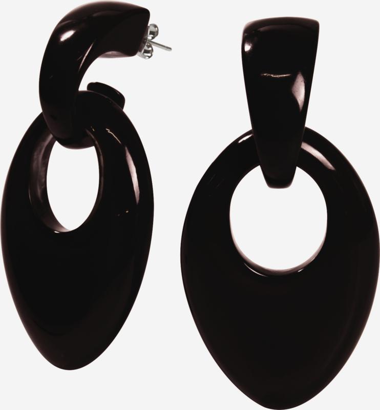 ZSISKA oorbellen zwart COLOURFUL STATEMENT
