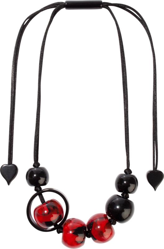 ZSISKA ketting rood zwart SATURN.