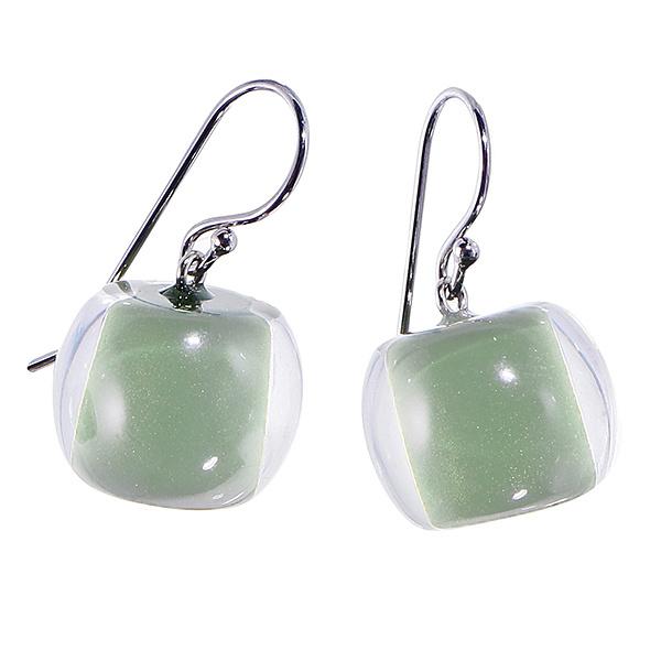 ZSISKA oorbellen groen licht COLOURFUL BEADS