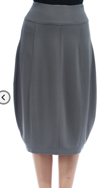VETONO licht grijs rokje in Punto di roma jersey tulp vorm