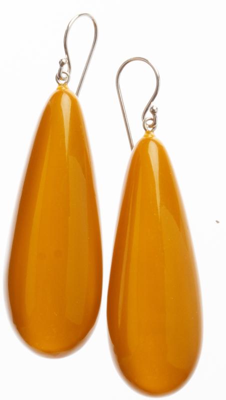 ZSISKA oorbellen geel COLOURFUL STATEMENT