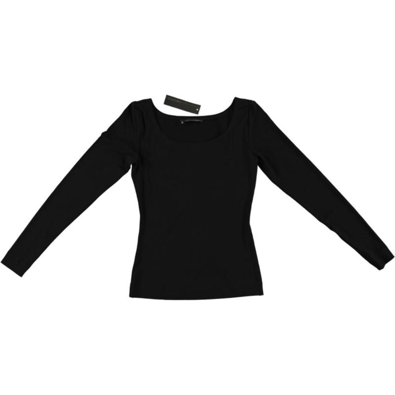 ELSEWHERE top lange mouw jersey zwart. STYLE 949