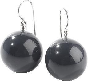 ZSISKA oorbellen zwart BOLAS.