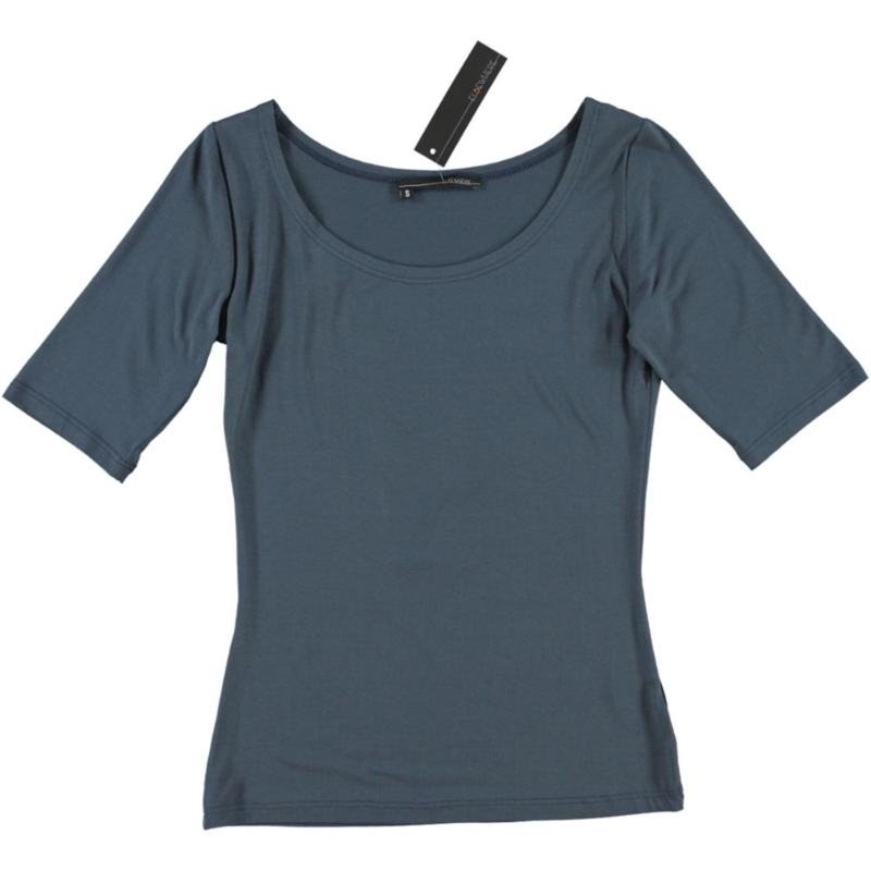 ELSEWHERE top vintage blue jersey korte mouw. STYLE 601A
