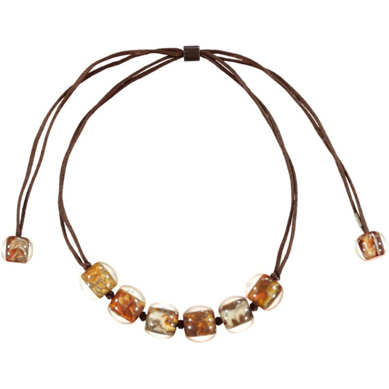 ZSISKA necklace brown marble. BALL's CLARITY