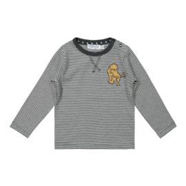 Dirkje - Shirt Anthracite + Off White