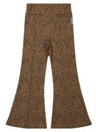 Vinrose - Flared Pants Leopard Pattern Brown