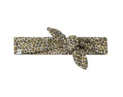 Ducky Beau - Haarband Leopard Pattern Golden Yellow