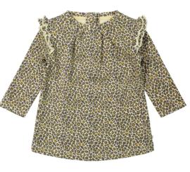 Ducky Beau - Jurkje Leopard Pattern Golden Yellow