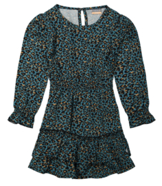 Vinrose - Dress Leopard Pattern Teal
