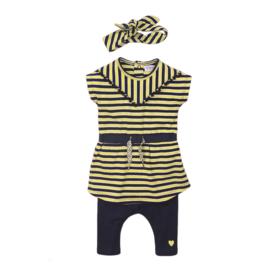 Dirkje - Setje Navy + Yellow