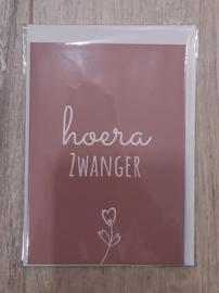 Wenskaarten - Hoera zwanger!