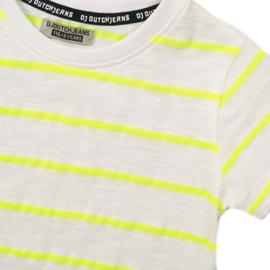 DJ Dutchjeans - T-Shirt White + Neon Yellow