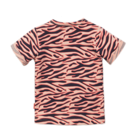 Dirkje - T-Shirt Peach + Navy