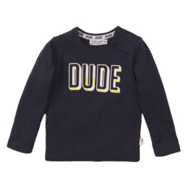 Dirkje - Shirt Navy ''DUDE''