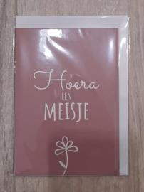 Wenskaarten - Hoera een meisje!
