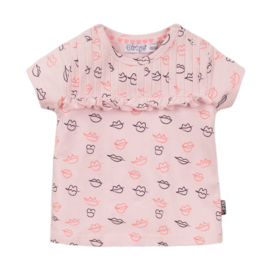 Dirkje - T-Shirt Light Pink + AOP