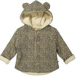Ducky Beau - Vest/Jacket Leopard Pattern Golden Yellow