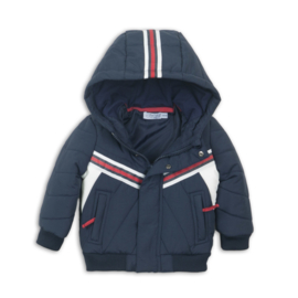 Dirkje - Winterjas Navy + Red