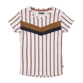DJ Dutchjeans - T-Shirt White + Stripe