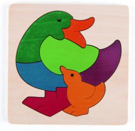 Hape - Rainbow Duck Puzzle