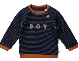 Ducky Beau - Sweater Navy Striper