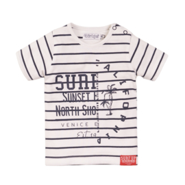 Dirkje - T-Shirt White + Navy Stripe