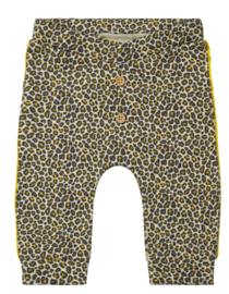 Ducky Beau - Broek Leopard Pattern Golden Yellow