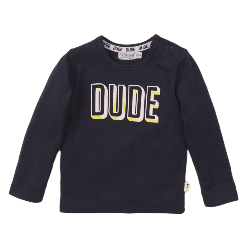 Dirkje - Shirt Navy ''DUDE''