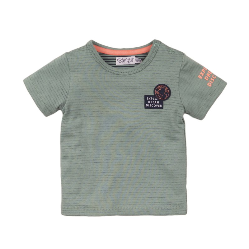 Dirkje - T-Shirt Sage + Stripe