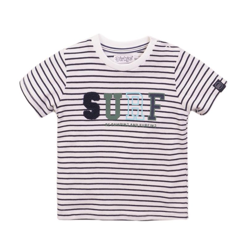 Dirkje - T-Shirt Navy + Stripe
