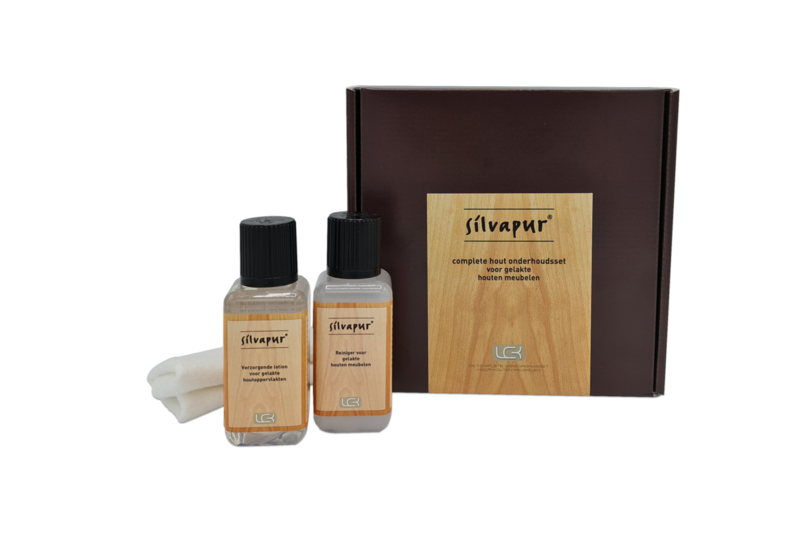 Silvapur® complete care set for lacquered wooden furniture