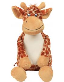 Knuffel Giraffe met geborduurde naam