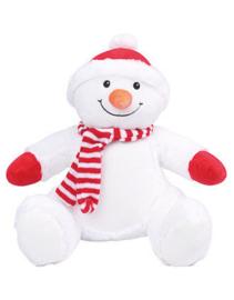 Knuffel sneeuwpop met geborduurde naam