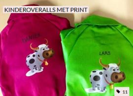 Kinderoveralls met print