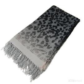 HOOMstyle Plaid Nikki - zwart/grijs - 130x170cm