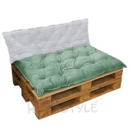 HOOMstyle Mimi palletkussen fluweel - groen - 120x80cm - 1 stuk - zit