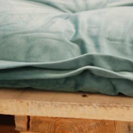 HOOMstyle Mimi palletkussen fluweel - groen - 120x40cm - 1 stuk - rug