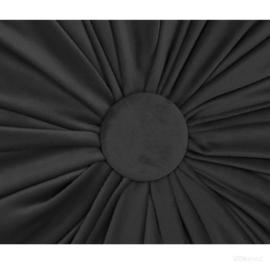 HOOMstyle Kiki Kussen - Sierkussen rond - Fluweel - Ø40cm - Zwart