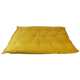 HOOMstyle Mimi palletkussen fluweel - oker geel - 120x80cm ZIT