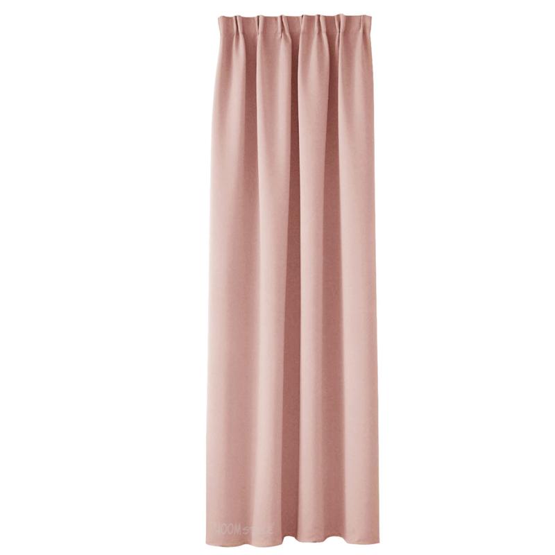 HOOMstyle gordijnen kant en klaar verduisterend - plooi - roze