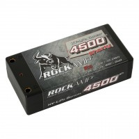 Rockamp LiPo Battery HV 4500mAh 2s Competition Shorty 4mm Bullet (   RK4500A2S )