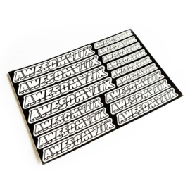 RC MAKER Awesomatix Pre-Cut Sticker Sheet (RCM-AMXSTICKER)