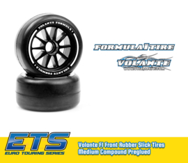Volante F1 Front Rubber Slick Tires Medium Compound Preglued (VT-VF1-FM)