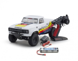 OUTLAW RAMPAGE 1:10 EP 2WD TRUCK (KT231P) T1 WHITE READYSET (KT231P)
