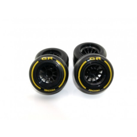 Ride F1 Rear Rubber Slick Tires GR Compound 61mm Preglued Asphalt( RI-26042)