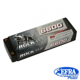 Rockamp LiPo Battery HV 6600mAh 2s Competition Hardcase 5mm Bullet (   RK6600A2S)