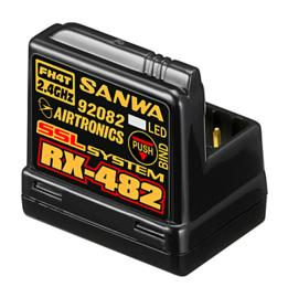 Sanwa RX-482 (2.4GHz, 4-Channel, FHSS-4, SSL) Telemetry Receiver w/Internal Antenna(#107A41257A)