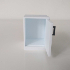 Cabinet with hinge on the right